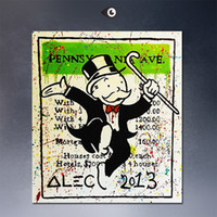 Wholesale Alec monopoly wall street arts canvas print POP ART Giclee poster print on canvas for wall decoration painting