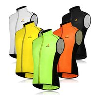 authentic clothes wholesale - Authentic WOLFBIKE Men Cycling Sportswear Jerseys Cycle Clothing Windcoat Breathable Bike Jacket Sleeveless Vest Color