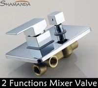 actuated valves - Bathroom In Wall Mounted Square Faucet Bath and Shower Covert Two Functions Actuated In Wall Mounted Mixer Valve