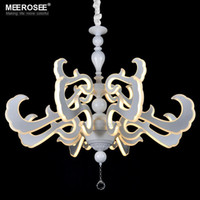 acrylic projects - LED New Lighting Art Deco LED Pendant Light Fixture White Acrylic Hanging Lustre for Home Decoration Hotel Project Restaurant