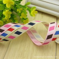 belt printing machine - Printed Grosgrain Ribbon Ruban Ribbon Double Color mm Rib Belt Oblique Lattice school Of Wind Small Supply Dl100