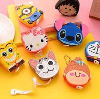 Wholesale Kawaii Cartoon Animals Silica Gel Portable Measure Tape Measure Tools Flexible Rule DIY Craft Rule