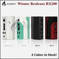 Wholesale 100 Original Wismec Reuleaux RX200 Mod rx200w tc mods With Batteries VS Sigelei Fuchai W Snowwolf ipv d3 ipv5 w kbox