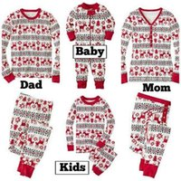 Wholesale 2016 Hot Autumn and Winter Christmas Holloween Pajamas Daddy Mum and Child Cotton Warm Clothes set Family Matching Clothes