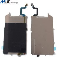 Wholesale LCD Plate Metal Backplate Shield Extend Home Button Flex Cable For iPhone plus