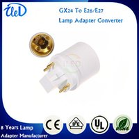 Wholesale GX24Q GX24Q GX24Q pins GX24 to E27 adapter GX24 to E26 lamp holder converter