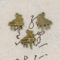 antique pianos - 120pcs Charms piano mm Antique Making pendant fit Vintage Tibetan Bronze DIY bracelet necklace