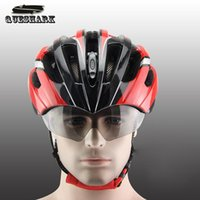 Wholesale Men Women Ultralight Bicycle Helmet Breathable Goggles Adjuastable MTB Bike Helmet With Pair Of Lens Cycling Protection