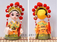 antique chinese doll - Chinese silk people dolls Q version of the cartoon dolls Peking opera mask ornaments Features Forbidden City to commemorate the creative gif