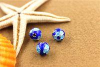 Wholesale National Creative cloisonne Thai Silver Accessories Hollow Flower Bead Caps Pendant Fitting For DIY Jewelry Pendant Necklace Bracelet