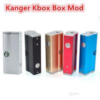 Wholesale 5 Colors Kanger Kbox box mod variable wattage W kbox mod battery mod for sub ohm atomizer atlantis subtank mini nano