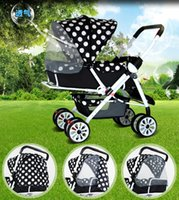 Wholesale Shipping baby stroller stroller can sit flat folding portable two way BB car baby cart