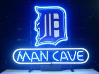 baseball man cave - NEW MAN CAVE DETROIT TIGERS BASEBALL quot X14 quot GLASS NEON SIGN LIGHT BEER BAR PUB SIGN ARTS CRAFTS GIFTS