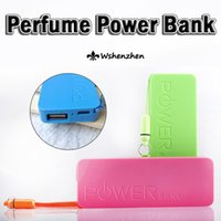 Wholesale 2500mah Perfume Phone Power Bank Emergency External Battery Charger panel USB for iphone S S Galaxy S3 S4 s5