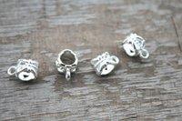 bead hole sizes - 50pcs Silver platedBail Bead Fit European Charm Bracelet Jewelry x6mm hole size mm