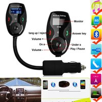 Wholesale car MP3 Player LCD Display Kit handsfree Bluetooth FM Transmitter Modulator