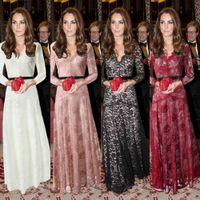 balls foreign trade - European and American V neck gauze lace long sleeved dress foreign trade dress length skirt Women