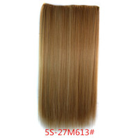 Wholesale Elegant Women Ladies Clips On One Hair Hairpiece Lolita Prom Party Dance Show Dip Dye Ombre Hair Extensions As Human Hair