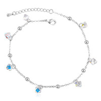 Wholesale Charm Fashion Jewelry Bracelet Crystal from Swarovski Elements White Gold Plated With Rhinestone Bracelets For Women