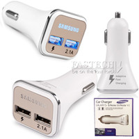 Wholesale 2016 New Dual Port USB Car Charger Adaptive QC2 LED Quick Charge Fast Charging Cable For Samsung Galaxy Note S6 Edge Free DHL