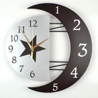 Wholesale Modern decorative wall clock mute creative personality living room clocks hanging table clock simple fashion bedro