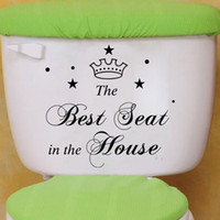 best decorating - The Best seat toilet paste The bathroom is stuck Toilet decorates the stickers Personality decoration