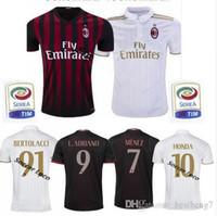 Wholesale Whosales AC MILAN jersey Soccer Jerseys Uniform BACCA Balotelli sportwear MENEZ HONDA Bonaventura TOP Thai Quality