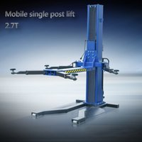 Wholesale Mobile Single Post Car Lift Movable Hydraulic One Post Car Lift High Quality Manganese Steel