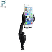 Wholesale EXCELVAN Degree Car Cell Phone Mount Charger Holder Dual USB Ports A Output Universal For iPhone Samsung HTC GPS MP4 etc