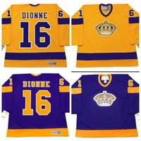 Wholesale Custom Retro BERNIE NICHOLLS ANZE KOPITAR MARCEL DIONNE jersey or custom any name or number Throwback men Stitched jerseys