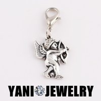 alloy thomas - Thomas Style Angel Cupid Charm Pendant Alloy Dangle Charm DIY Floating Dangle Charm for Glass Locket