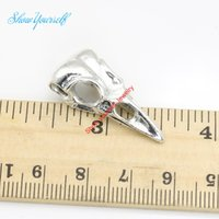 Wholesale 8pcs Antique Silver Plated Bird Head Bone Charm Pendants for Necklace Jewelry Making DIY Handmade Craft x14mm