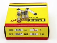 Wholesale 100pcs A MM Fuses Fast Quick Blow Glass Tube Fuse x20mm V A F2AL250V