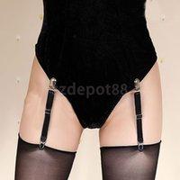 Wholesale SPMART Adjustable Nylon Y Style Sock Garters Sock Suspenders for Women Black