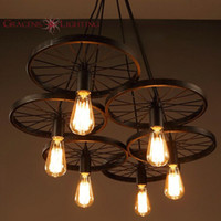 light up lip gloss LOFT Metal Wheel Pendant Light Vintage Industrial  Lighting American Aisle Lights Lamp 110V-220V