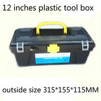 Wholesale quot Plastic Tool Box size mm for Electric Drill Accessories Toolbox Inch case Parts box Household receive a case