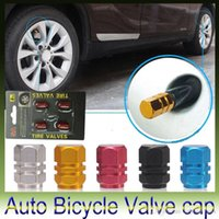 Wholesale Aluminum Round Car motorcycle bike Tire Valve Caps Blue Silver Golden Red Black wheels car Styling