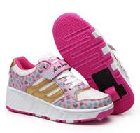 autumn brand roller shoes - Size Brand Boys Girls Heelys Children Heelys Child Roller Shoes Outdoor Sport Sneakers Single Wheel Heelys Shoe HJIA373