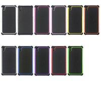 achat en gros de xperia cas z caoutchouc-Etui hybride Etui rigide et résistant aux chocs Étui rigide et résistant aux chocs pour Xperia Z Z1 MINI Z2 Z5 Blackberry Z10 9790 9860 9360 9700
