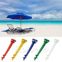 beach umbrella free shipping - 1 pc Sun Umbrella Holder Beach Garden Patio Parasol Ground Earth Anchor Spike Stand Y102
