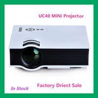 Wholesale 2015 New Original Korea UC40 Projector Mini Pico portable proyector Beamer AV A V USB SD HDMI Projector Factory Direct Sale