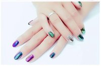 Wholesale 666 Colorful Nail Glitter Powder Shinning Mirror Effect Nail g Makeup Powder Dust Nail Art DIY Chrome Pigment Glitters With Two Brushes