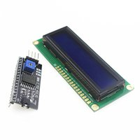 Wholesale x2 HD44780 Character LCD w IIC I2C Serial Interface Adapter Module