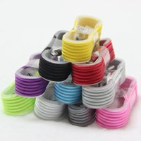Wholesale 1M Mix Color snake pattern Braided Fabric Micro USB Cord Data Sync Charger Cable For Android Smart phone