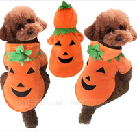 Wholesale Halloween Dog Clothes Pumpkins Dog Costume Clothing Cat Pet Clothes Halloween Puppy Jacket Pumpkins Hoodie Dog Coat Jumper Outwear B781