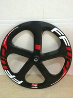 Wholesale Ruedas carbono carretera lightweight big brand carbon spoke track fixed gear or road front wheel