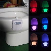 Wholesale Sensitive LED Toilet Nightlight B8 Magic Battery powered Bowl Bathroom Seat Safety Night Light Lamp with Motion Activated Sensor