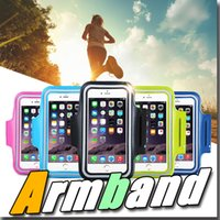 armed bands - For Iphone Waterproof Sports Running Case Armband Running bag Workout Armband Holder Pounch For iphone Cell Mobile Phone Arm Bag Band