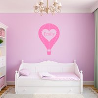 balloons wall decal - Personalised Any Name Hot Air Balloon Vinyl Wall Stickers Kids Room Decal
