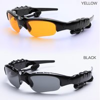Wholesale HOT Sports Stereo Wireless Bluetooth Headset Telephone Polarized Driving Sunglasses mp3 Riding Eyes Glasses
